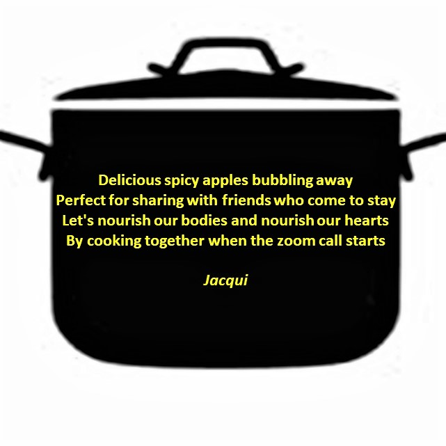 cooking pot with poem written on it